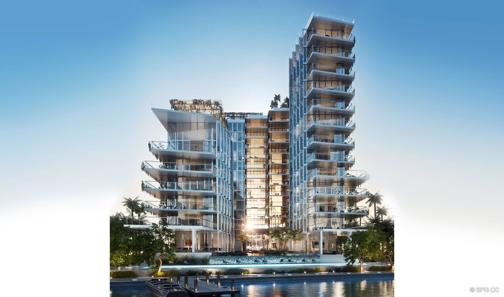 Monad Terrace, Luxury Waterfront Condos in South Beach, Miami, Florida 33139.