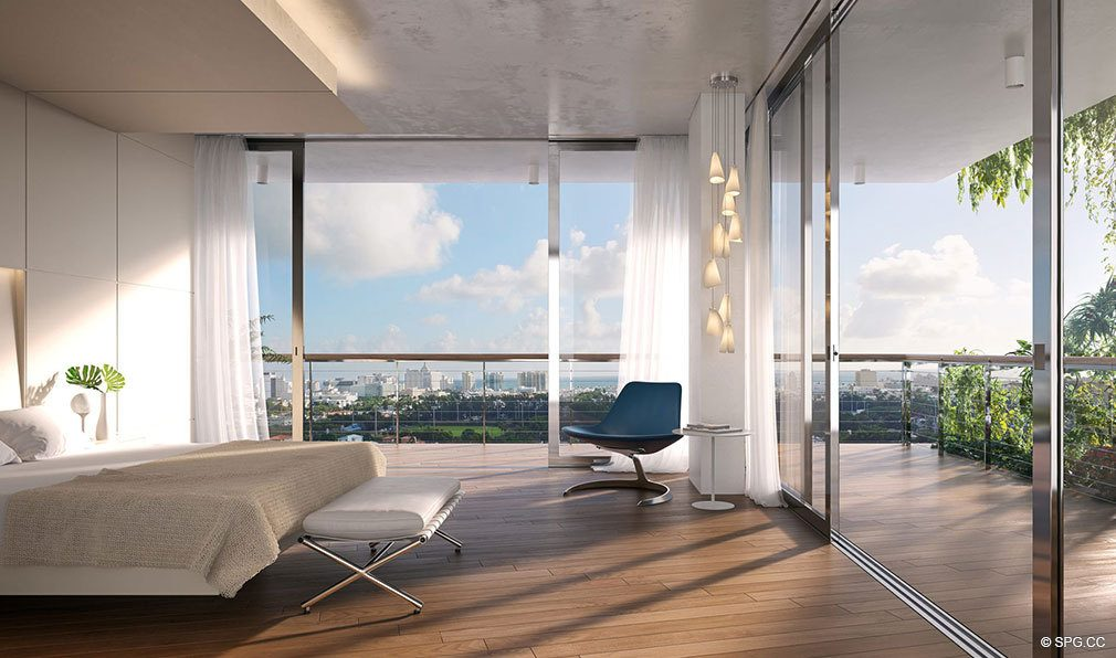 Master Suites in Monad Terrace, Luxury Waterfront Condos in South Beach, Miami, Florida 33139.