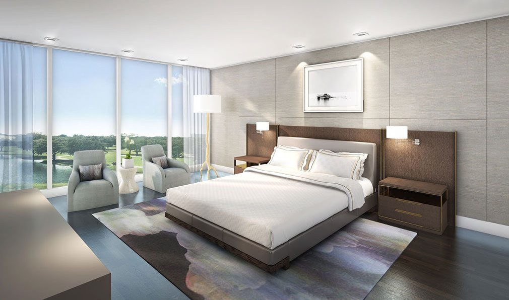 Bedroom Concept inside Akoya Boca West, Luxury Condos in Boca Raton, Florida 33432