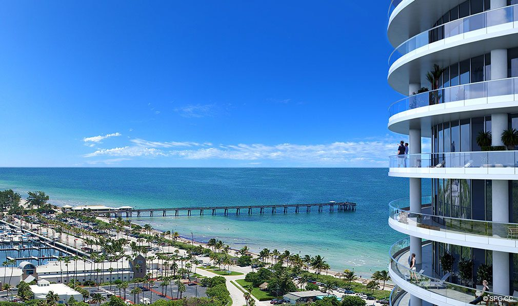 Northern Terrace Views from Oceanbleau, Luxury Waterfront Condos in Hollywood Beach, Florida 33019