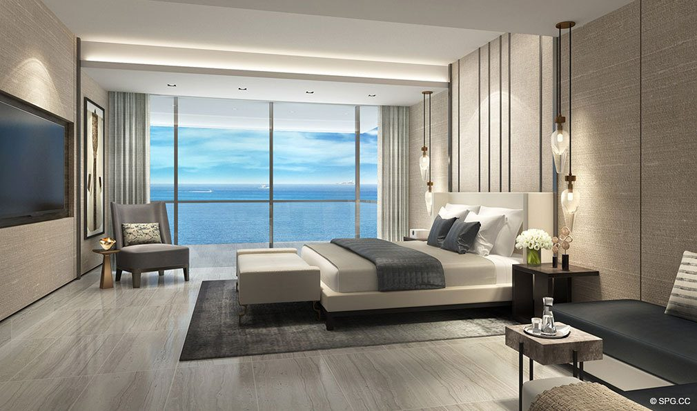 Master Suite Design for Oceanbleau, Luxury Waterfront Condos in Hollywood Beach, Florida 33019