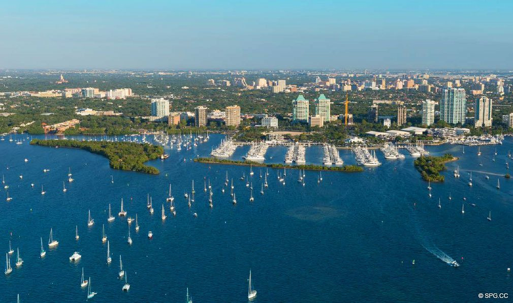 Aerial View of the Club Residences at Park Grove Site, Luxury Waterfront Condos in Miami, Florida 33133