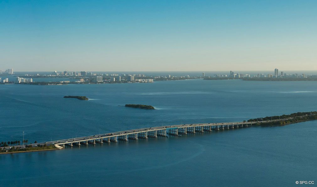 Northern View from Missoni Baia, Luxury Waterfront Condos in Miami, Florida 33137