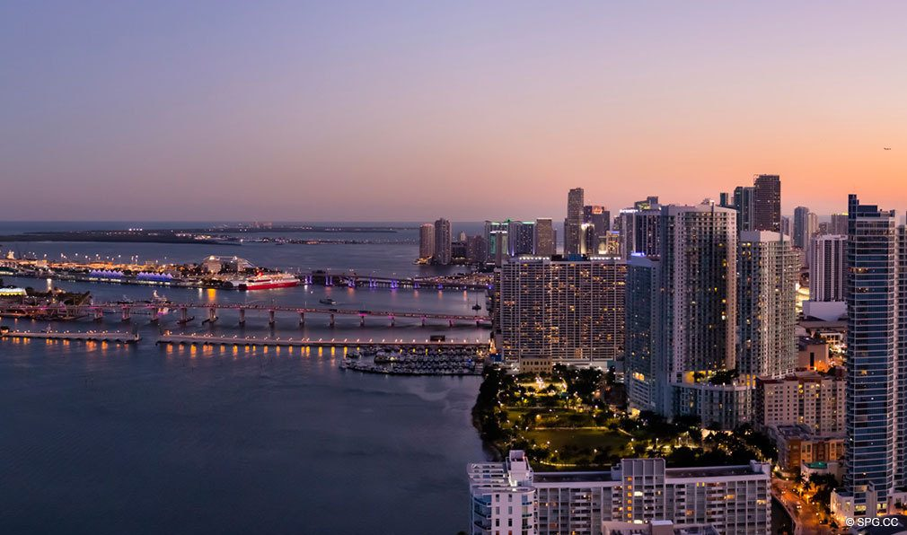 Southern View from Missoni Baia, Luxury Waterfront Condos in Miami, Florida 33137
