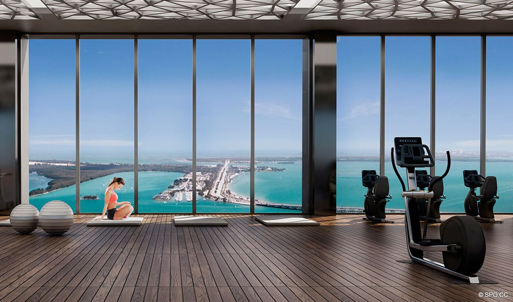 State of the Art Fitness Center at Echo Brickell, Seaside Luxury Condos in Miami, Florida 33131