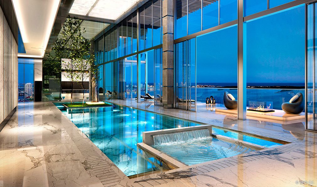 Superb Social Spaces at Echo Brickell, Seaside Luxury Condos in Miami, Florida 33131