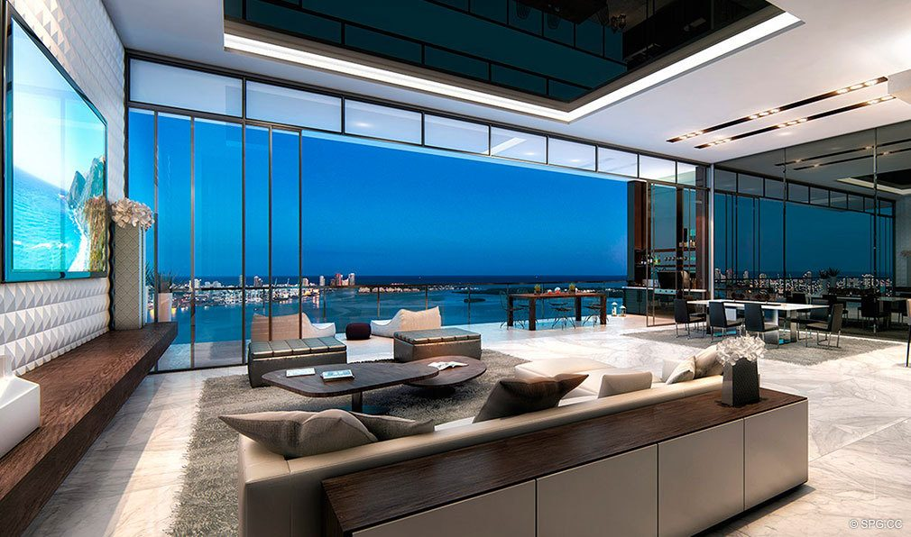 Floor to Ceiling Glass Views from Echo Brickell, Seaside Luxury Condos in Miami, Florida 33131