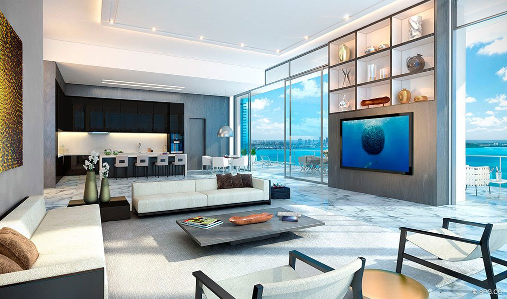 Large Open Floorplans at Echo Brickell, Seaside Luxury Condos in Miami, Florida 33131