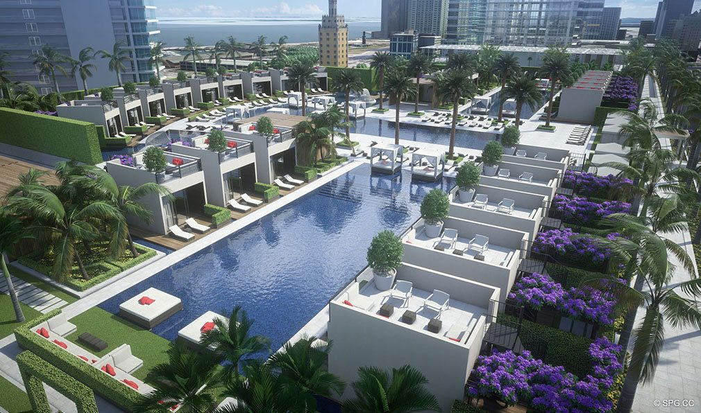Upper Deck Overview at Paramount Miami Worldcenter, Luxury Seaside Condos in Miami, Florida 33132.