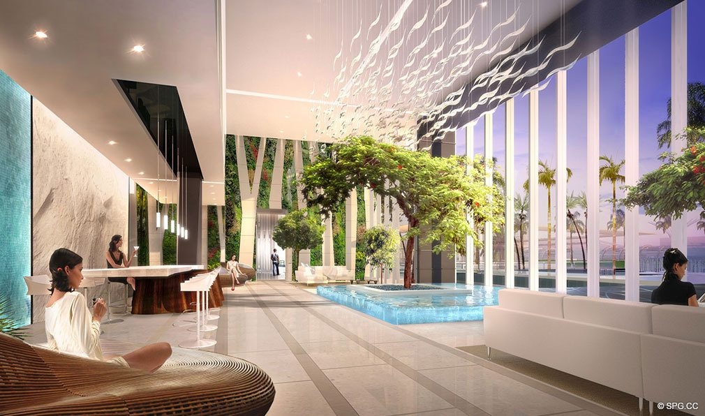Conservatory at Paramount Miami Worldcenter, Luxury Seaside Condos in Miami, Florida 33132.
