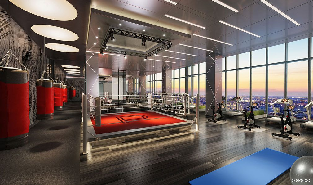 Fitness Center inside Paramount Miami Worldcenter, Luxury Seaside Condos in Miami, Florida 33132.