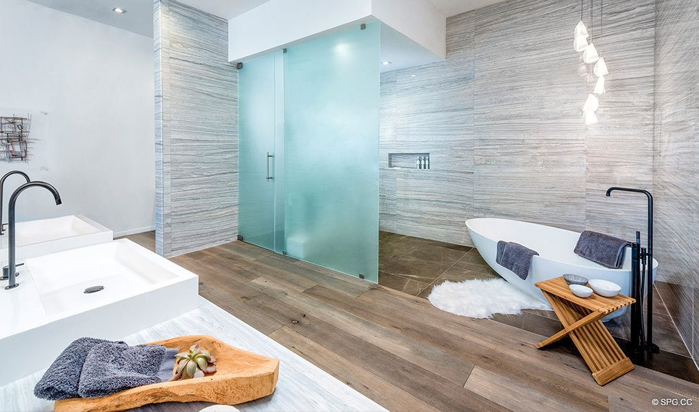 Spectacular Bath Designs in Auberge Beach Residences, Luxury Oceanfront Condos in Ft Lauderdale