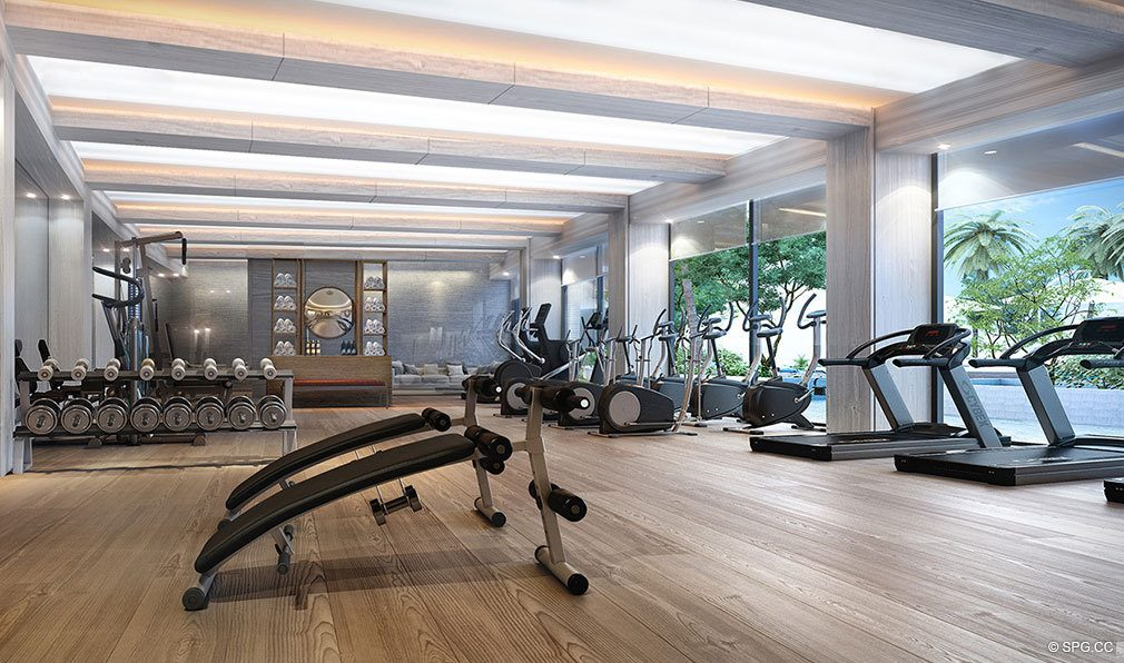 Fitness Center inside Auberge Beach Residences, Luxury Oceanfront Condos in Ft Lauderdale