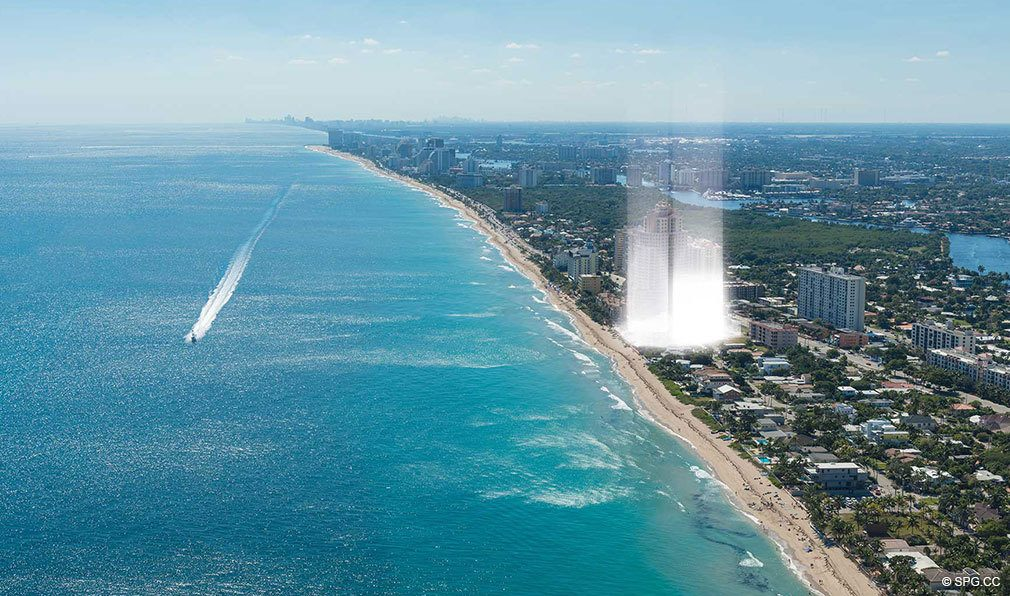 Location of Auberge Beach Residences, Luxury Oceanfront Condos in Ft Lauderdale