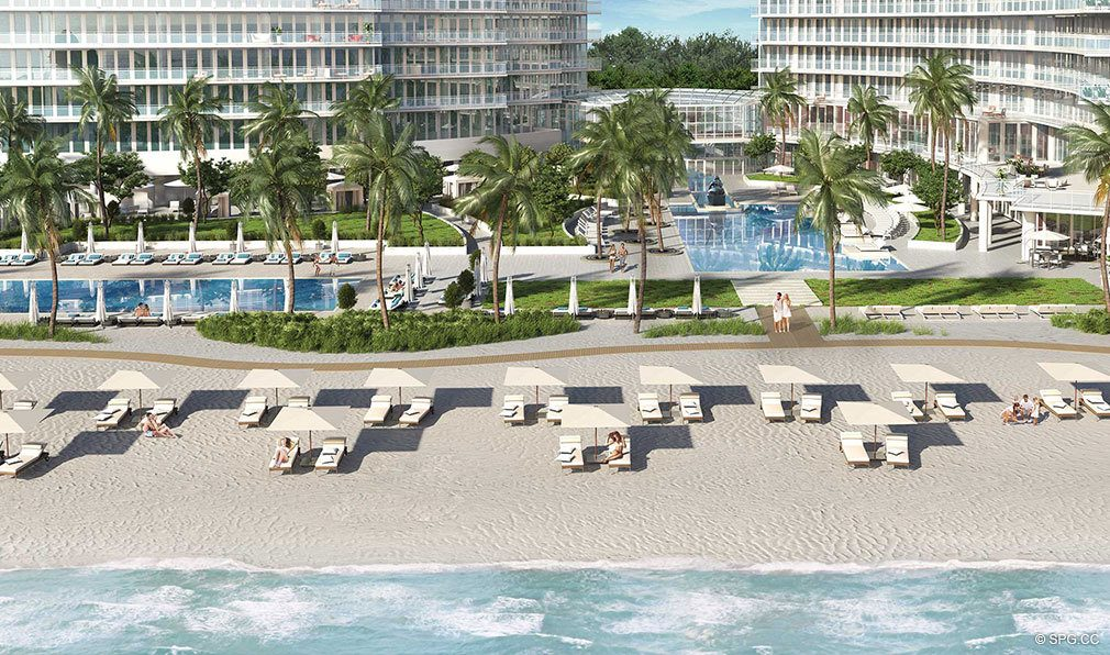 Beautiful Sun and Sand at Auberge Beach Residences, Luxury Oceanfront Condos in Ft Lauderdale