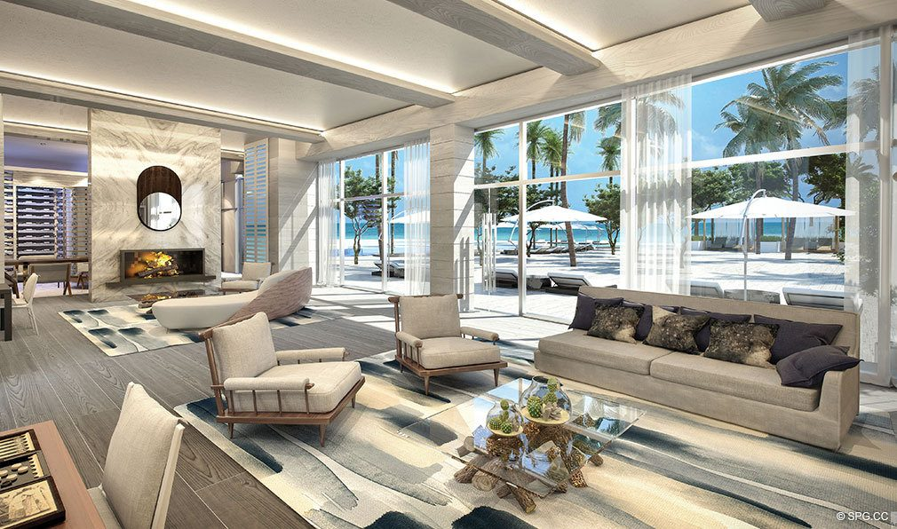 Wine Lounge at Auberge Beach Residences, Luxury Oceanfront Condos in Ft Lauderdale