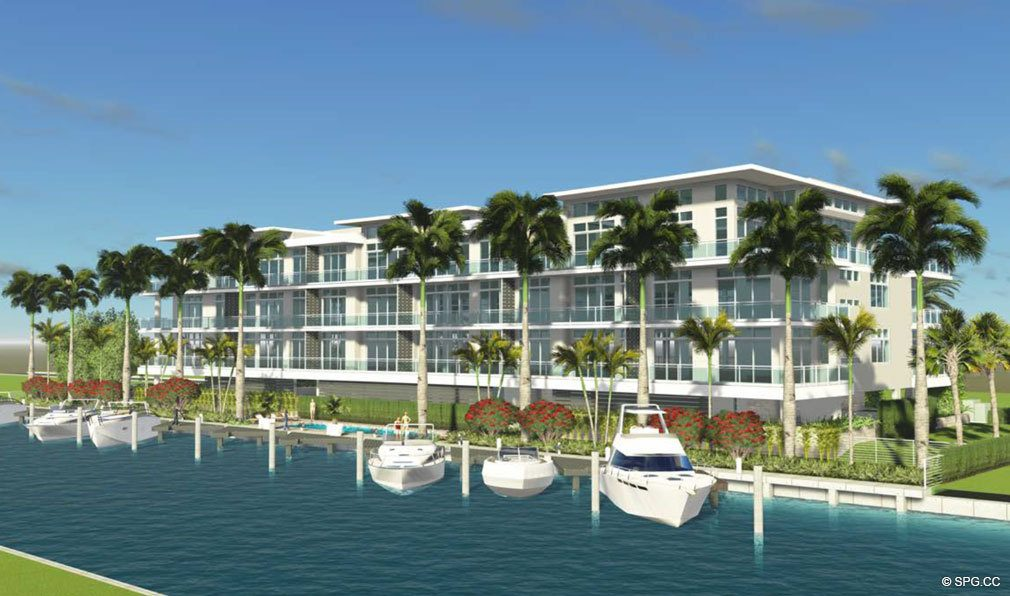 Water View of Aquarius 15, Luxury Waterfront Condos in Fort Lauderdale, Florida 33304