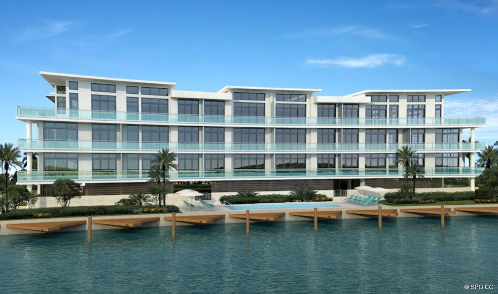 Intracoastal Facade of Aquarius 15, Luxury Waterfront Condos in Fort Lauderdale, Florida 33304