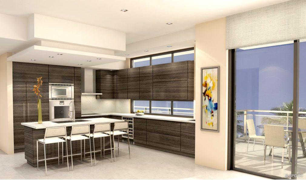 Kitchen Design at Aquarius 15, Luxury Waterfront Condos in Fort Lauderdale, Florida 33304