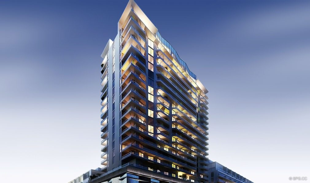 Building Facade of Brickell Ten, Luxury Seaside Condos in Miami, Florida, Florida 33130