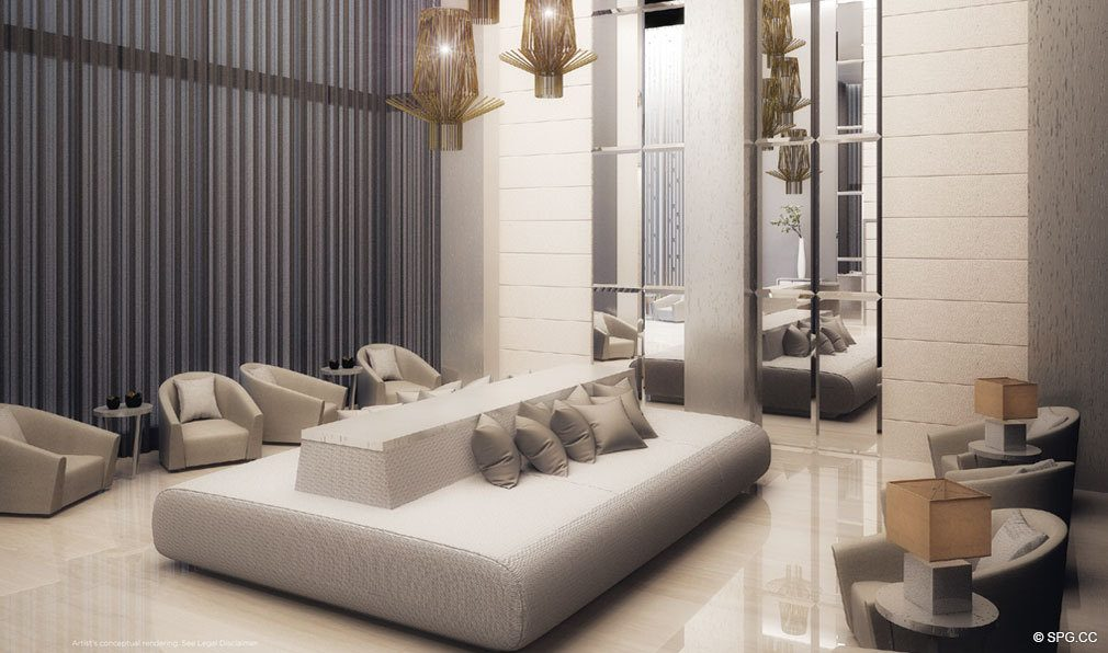 Magnificent Social Spaces at Brickell Ten, Luxury Seaside Condos in Miami, Florida, Florida 33130