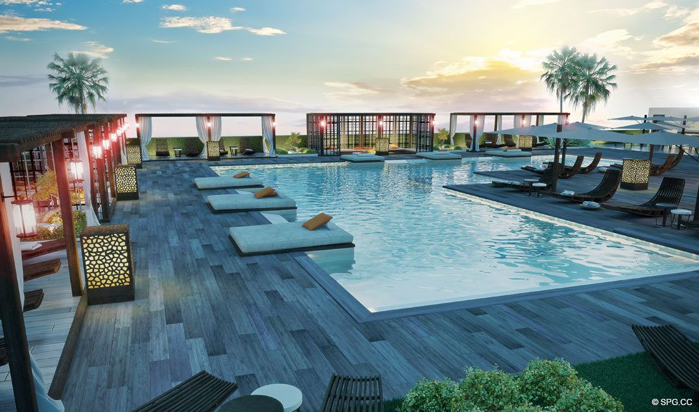 Pool Deck at Brickell Ten, Luxury Seaside Condos in Miami, Florida, Florida 33130