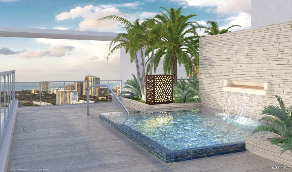 Rooftop Outdoor Spa at Brickell Ten, Luxury Seaside Condos in Miami, Florida, Florida 33130