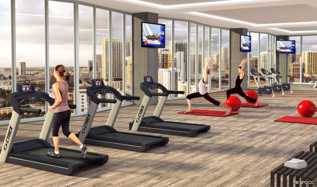 State of the Art Gym in Brickell Ten, Luxury Seaside Condos in Miami, Florida, Florida 33130