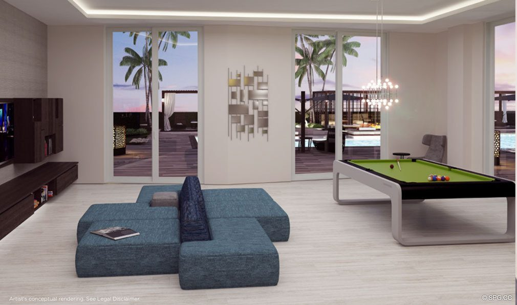 Club Room at Brickell Ten, Luxury Seaside Condos in Miami, Florida, Florida 33130