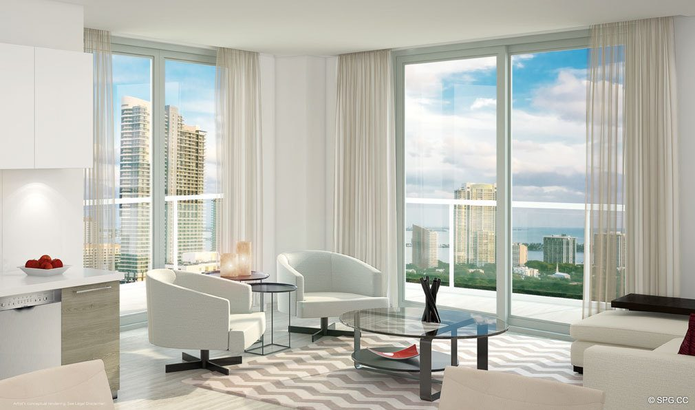 Contemporary Interior Design in Brickell Ten, Luxury Seaside Condos in Miami, Florida, Florida 33130