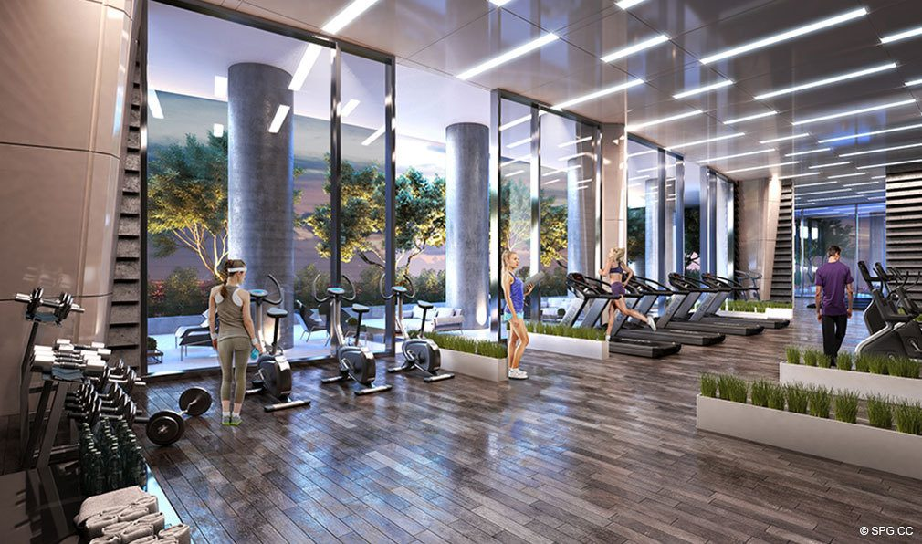 State of the Art Fitness Center at Canvas Miami, Luxury Condos in Miami, Florida 33132