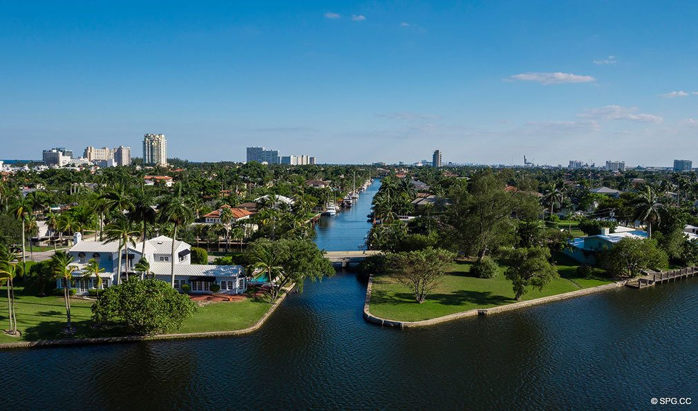 South View from 353 Sunset, Luxury Waterfront Condos in Fort Lauderdale, Florida 33301