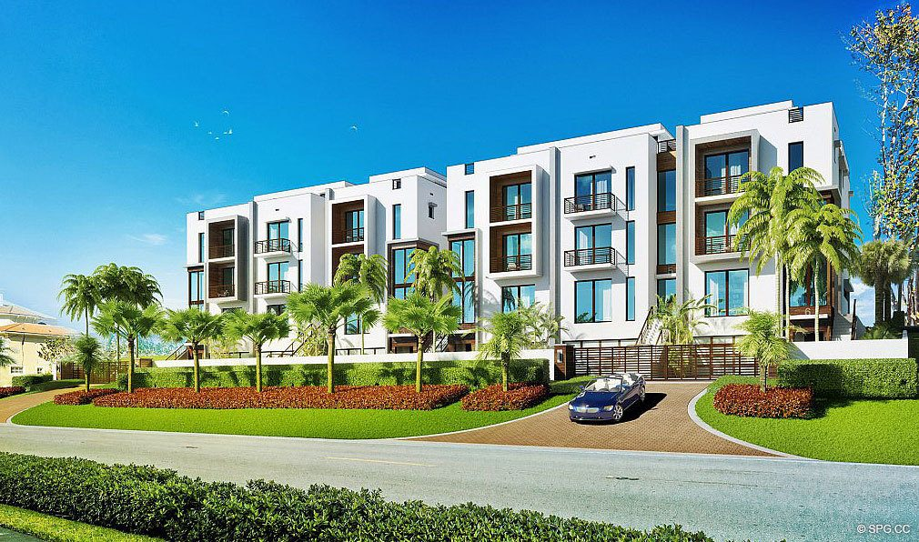 Street View of 3621 South Ocean, Luxury Oceanfront Townhomes in Highland Beach, Florida 33487