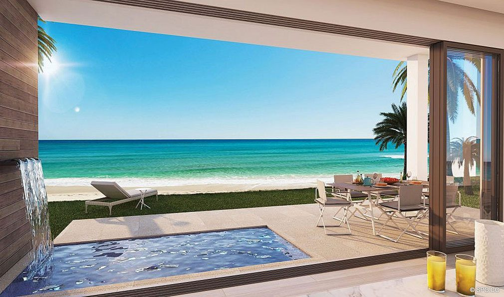 Private Residence Pool Deck at 3621 South Ocean, Luxury Oceanfront Townhomes in Highland Beach, Florida 33487