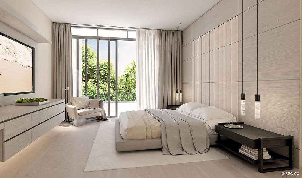 Master Bedrooms inside Eleven on Lenox, Luxury Seaside Condos in Miami Beach, Florida 33139