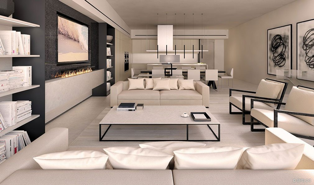 Spacious Open Living Areas in Eleven on Lenox, Luxury Seaside Condos in Miami Beach, Florida 33139