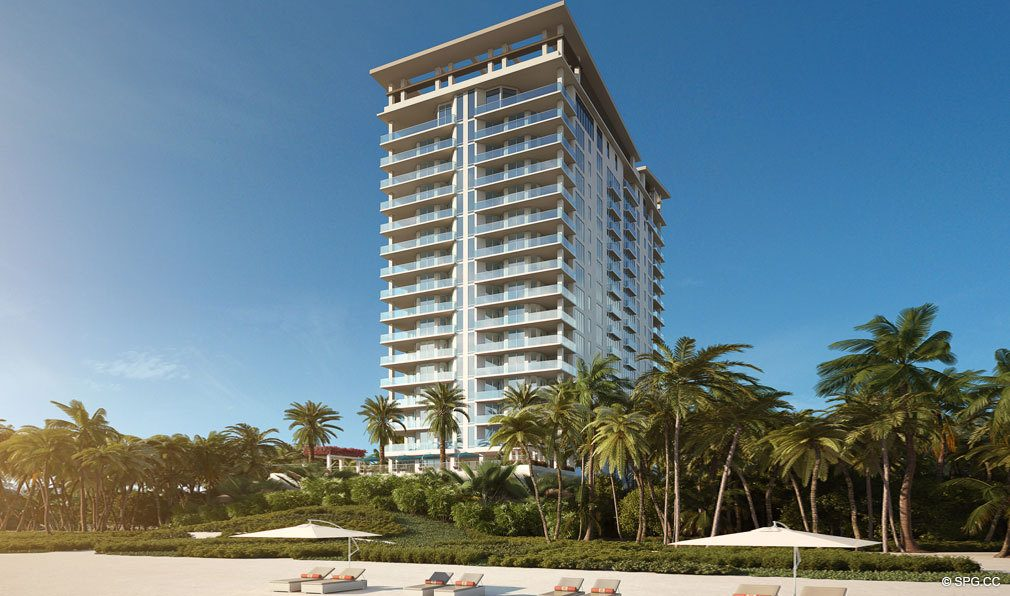 East Elevation View of VistaBlue Singer Island, Luxury Oceanfront Condos in Riviera Beach, Florida 33404