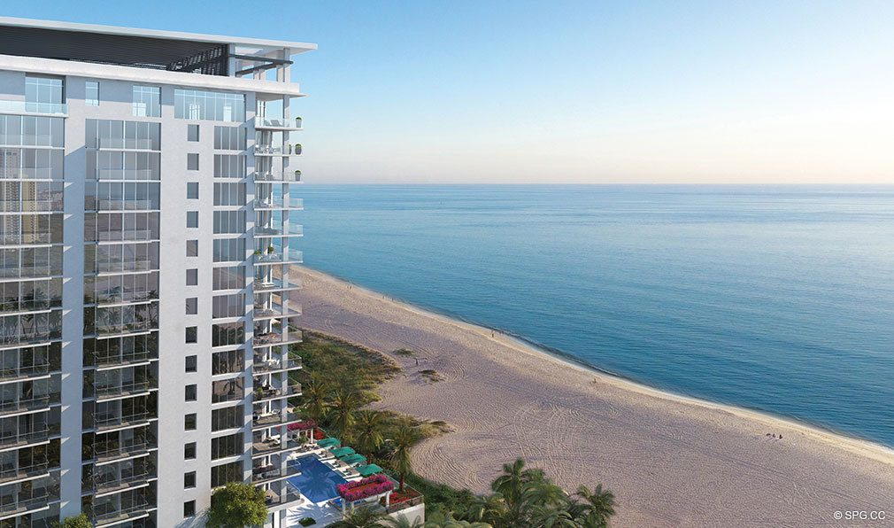 Southern Elevation View of VistaBlue Singer Island, Luxury Oceanfront Condos in Riviera Beach, Florida 33404