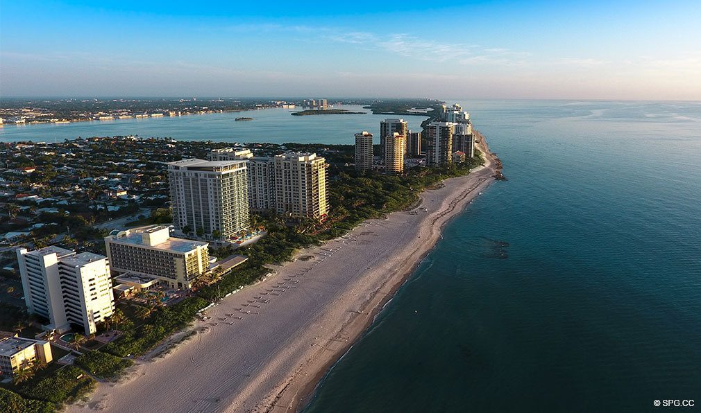 Aerial View of VistaBlue Singer Island, Luxury Oceanfront Condos in Riviera Beach, Florida 33404