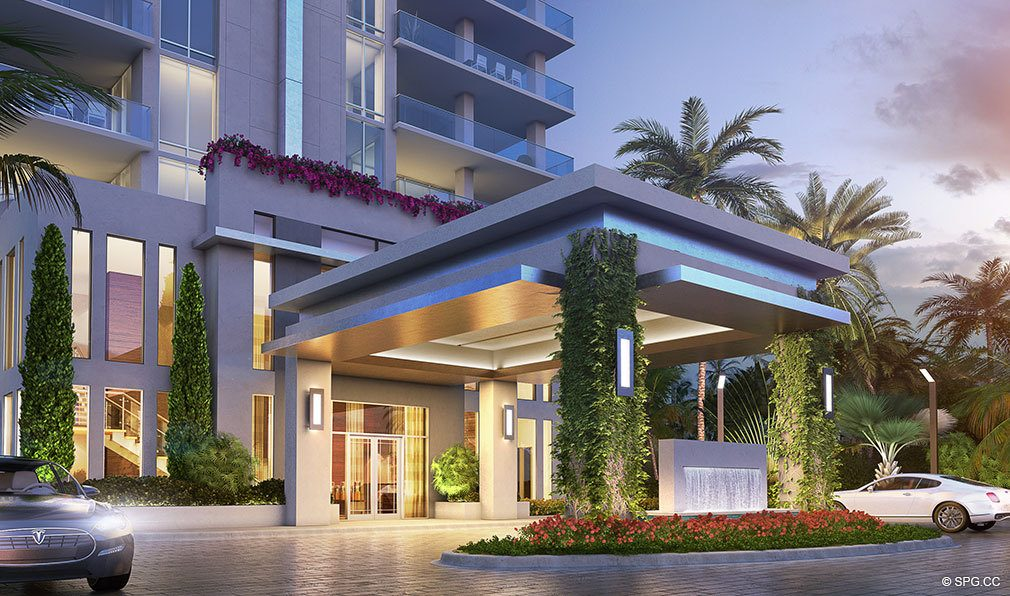 Port Cochere at VistaBlue Singer Island, Luxury Oceanfront Condos in Riviera Beach, Florida 33404