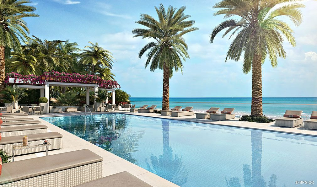 Pool Deck at VistaBlue Singer Island, Luxury Oceanfront Condos in Riviera Beach, Florida 33404