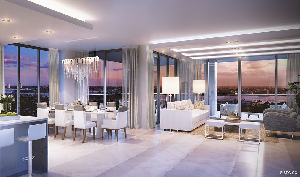 West Facing Residences at VistaBlue Singer Island, Luxury Oceanfront Condos in Riviera Beach, Florida 33404