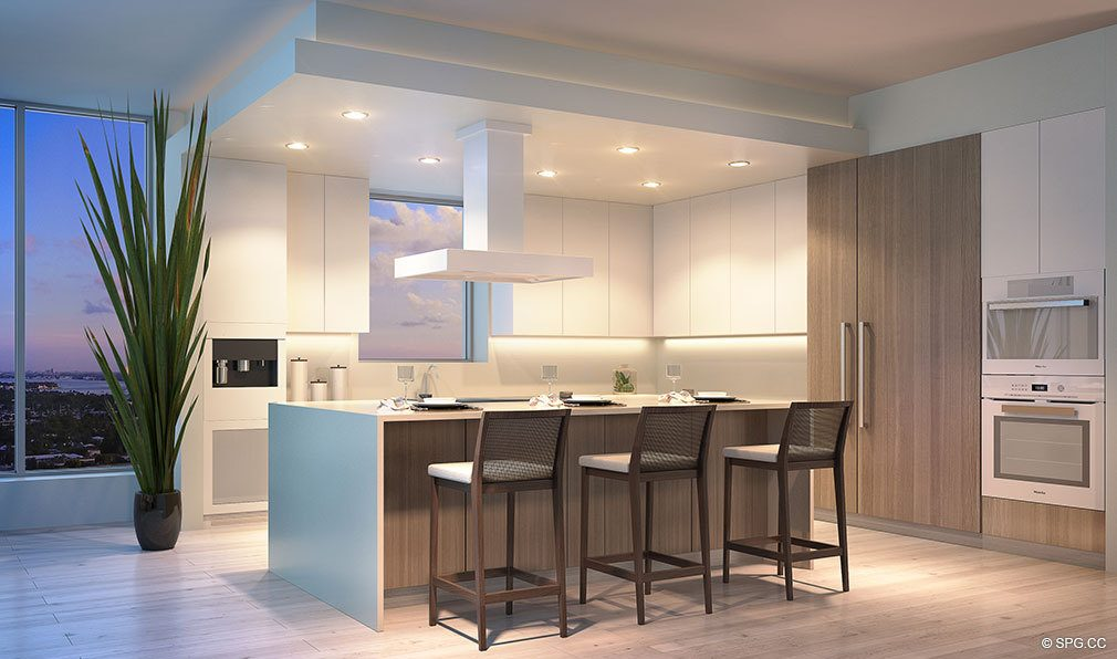 Kitchen Design at VistaBlue Singer Island, Luxury Oceanfront Condos in Riviera Beach, Florida 33404