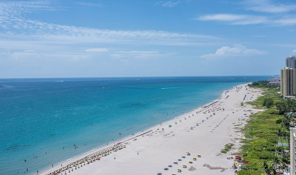 Southeast Beach Views from VistaBlue Singer Island, Luxury Oceanfront Condos in Riviera Beach, Florida 33404