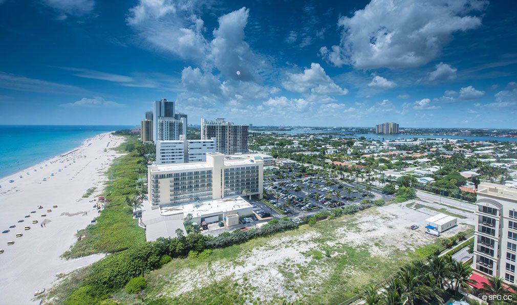 Lot Location Shot for VistaBlue Singer Island, Luxury Oceanfront Condos in Riviera Beach, Florida 33404