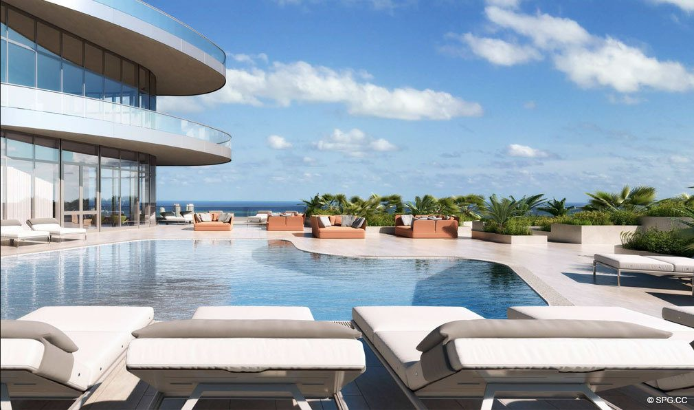 Luxurious Pool in the Sky at Brickell Flatiron, Luxury Condos in Miami, Florida 33130