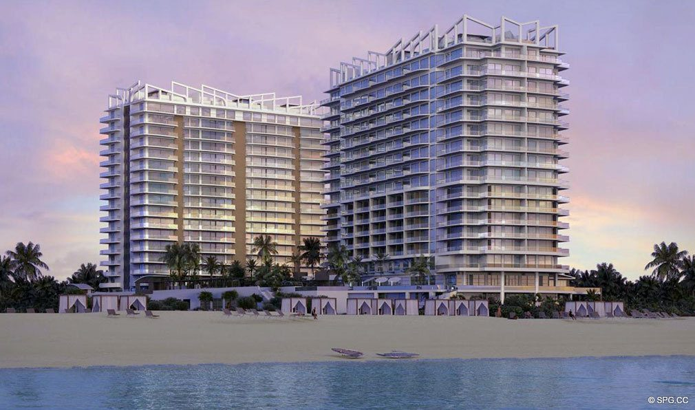 Beach View of Amrit Ocean Resort and Residences, Luxury Oceanfront Condos on Singer Island, Florida