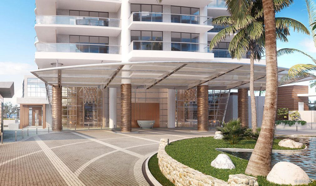 Port Cochere at Amrit Ocean Resort and Residences, Luxury Oceanfront Condos on Singer Island, Florida