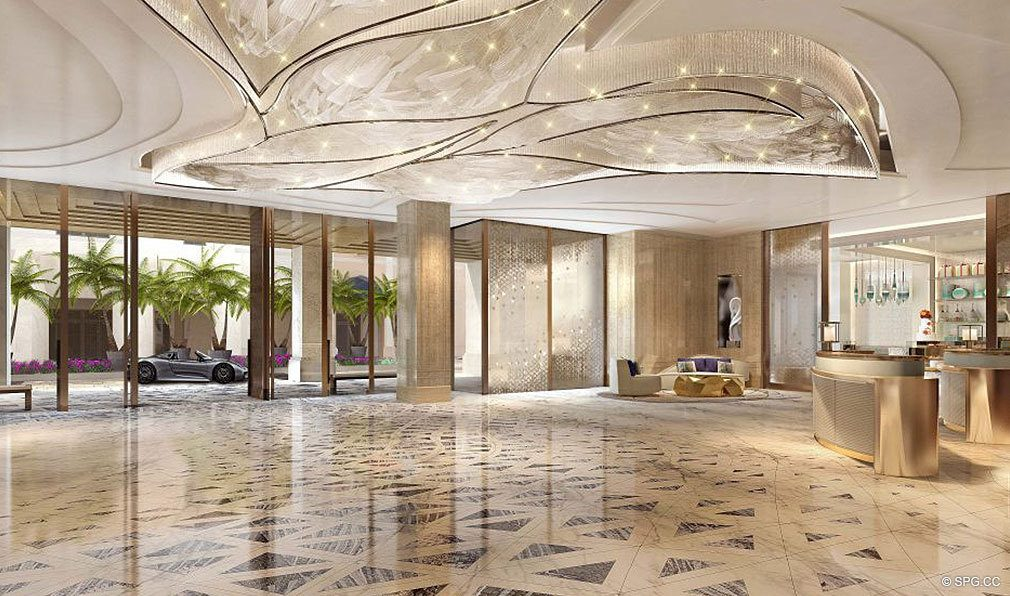 Lobby at The Residences at Mandarin Oriental, Luxury Condos in Boca Raton, Florida
