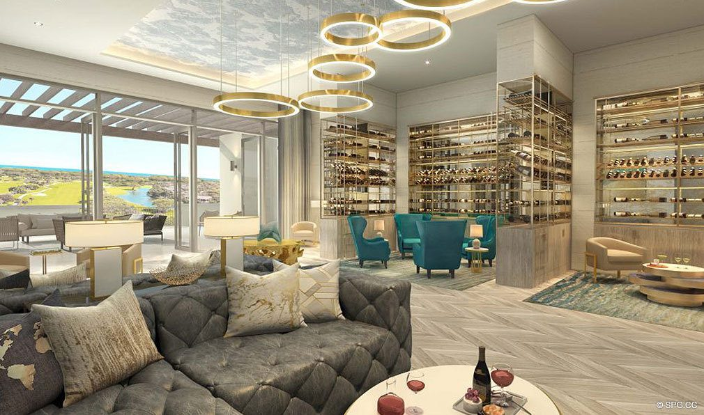 Residences Wine Lounge in The Residences at Mandarin Oriental, Luxury Condos in Boca Raton, Florida